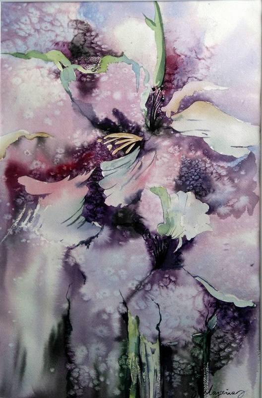 « Les iris »,50×70